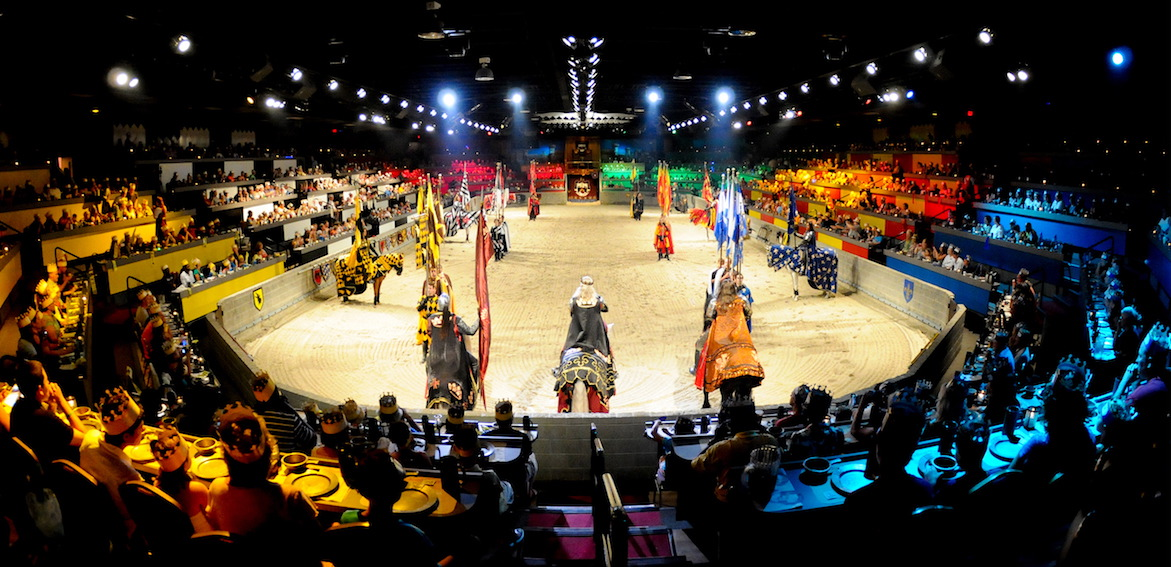 We had an excellent time at Medieval Times Dinner & Tournament. From the moment you arrive to the venue, you are transported to the Medieval period-castles, king, queens, knights, horses, and everything in between! If you have children and/or enjoy this period, a visit to Medieval Times is a must!!4/4(K).